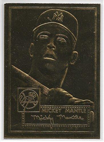 1996 Topps Baseball 1952 Topps Mickey Mantle 22 Karat Gold Card Soft Corner