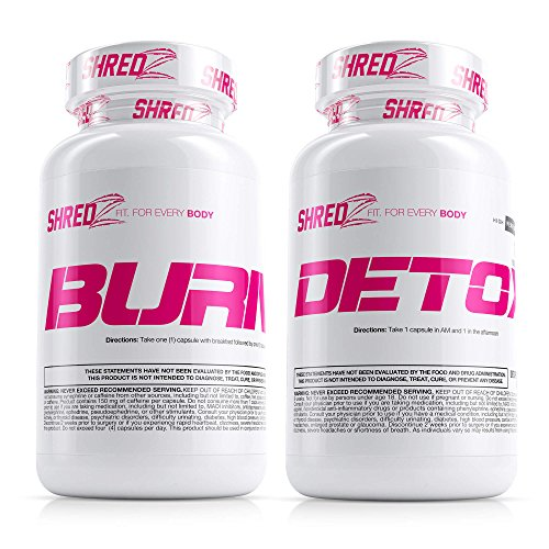 - SHREDZ Sexy & Lean Supplement Stack for Women, Lose Weight, Burn Fat, Build Lean Muscle, Best Ingredients (30 Day Supply)