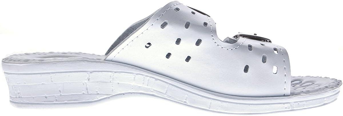 Damen Pantoletten Schwarz Wei/ß Beige Clogs Komfort-Soft-Fu/ßbett Latschen Schuhe Sandalette Gr 36-42
