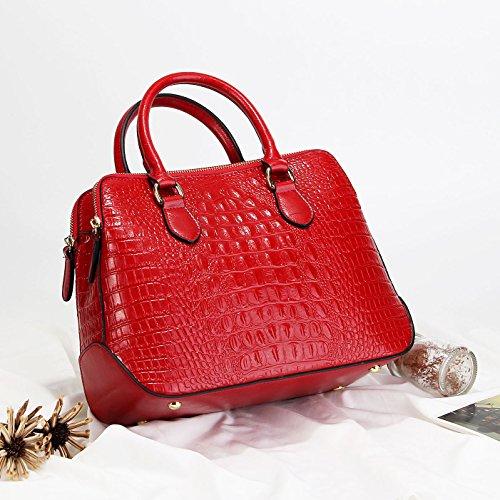 cuir luxe Main à féminin Cuir Porté Sac en crocodile de main Epaule à motif Panzexin Femme Sac Rouge Véritable à Sac gII0A