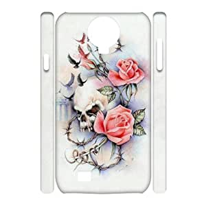 QSWHXN Cell phone Cases Sugar Skull Hard 3D Case For Samsung Galaxy S4 i9500