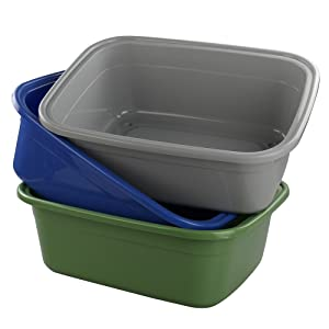 Ggbin 18 Quart Dish Pan/Wash Basins, Set of 3