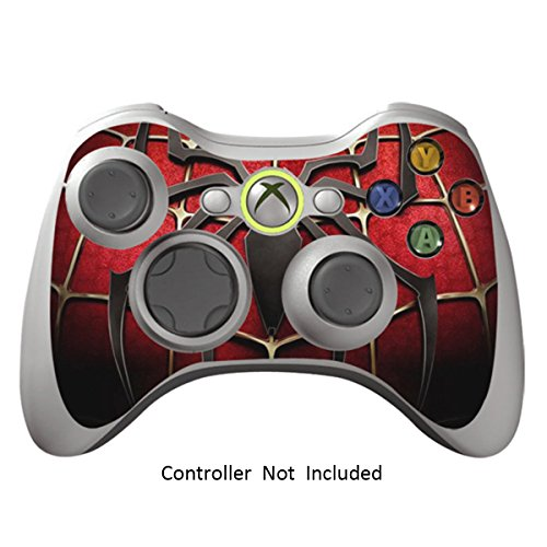 Skin Stickers for Xbox 360 Controller - Vinyl Leather Texture Sticker for X360 Slim Wired Wireless Game Controllers - Protectors Stickers Controller - Widow Maker Black [ Controller Not Included ]