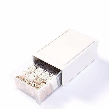 SQUEEQEES Ropa Interior Calcetines Ropa Interior Sujetador de plástico Blanco Caja 40*27.5*16cm