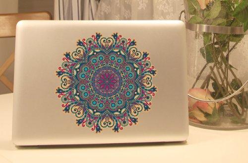 Lovedecalhome@ Macbook Sticker Decal Unique Flower Partial Cover Macbook Pro Decal Skin Macbook Air 13 Sticker Macbook Decal by Love Decal home