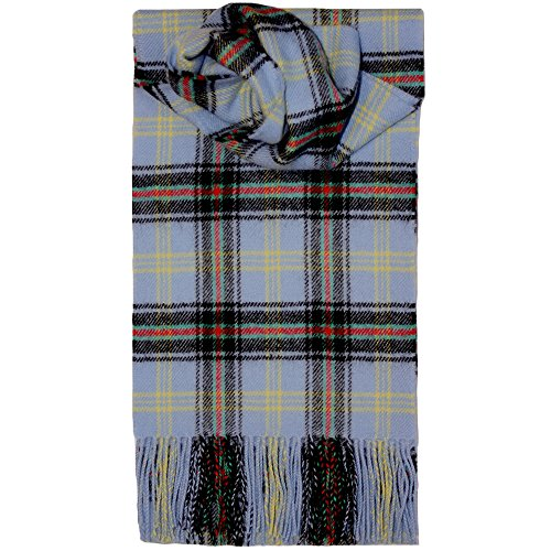 Brushed Wool Plaid Scarf Made in Scotland (Bell of the Borders) Brushed Wool Scarf