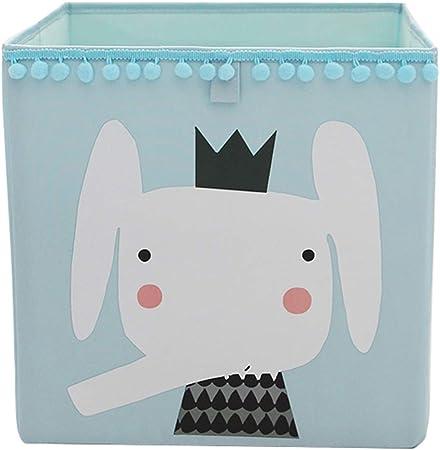 Fieans Boite De Rangement A Motif Animal Pour Chambre D Enfant Coffre A Jouets En Tissu Pliable Cube De Rangement Carre Organisateur Elephant Bleu Amazon Fr Cuisine Maison