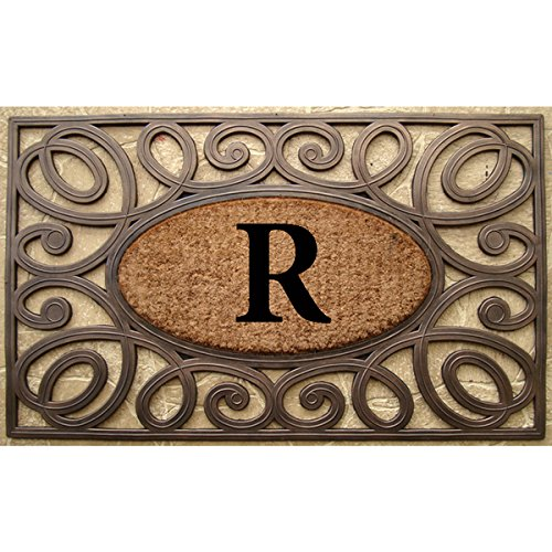 a1-home-collections-rubber-coir-elegant-circles-princess-doormat-monogrammed-r-large