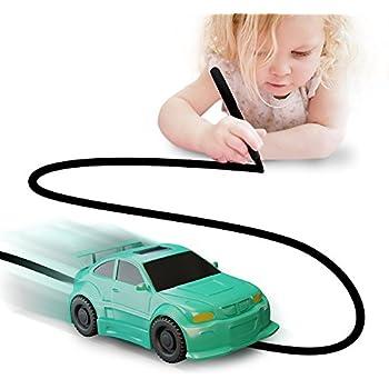 Magic Vehicles Inductive Truck [Follows Black Line] Magic Toy Car for Kids & Children - Best Toddler Toys MINI Magic Pen Inductive Fangle Kids Car Follow [Green Car]