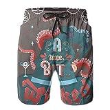 BBggyh Men's Beachwear Skull Hat Summer Surf Board Shorts Cargo Swim-Trunks