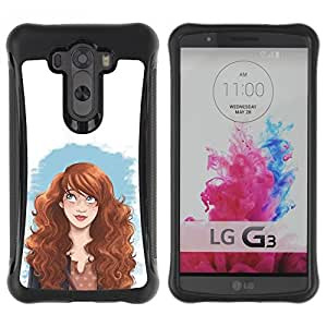 Suave TPU GEL Carcasa Funda Silicona Blando Estuche Caso de protección (para) LG G3 / CECELL Phone case / / smart redhead girl fashion woman's rights /