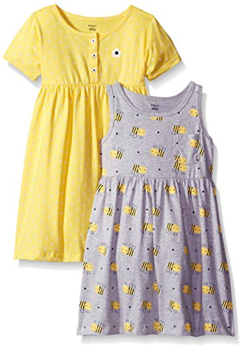 Gerber Little Girls' Toddler Two-Piece Dress Set, Bees/Exclusive, 5T