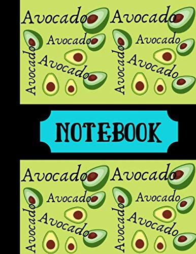 Drawing Fruit Bowl - Notebook: Avocado Notebook Green Writing