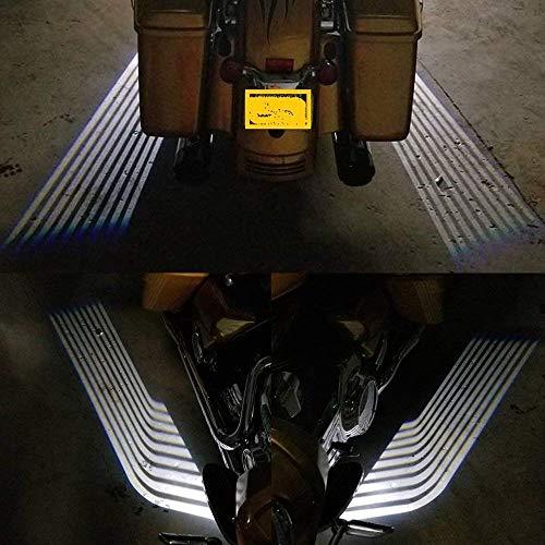 FOLCONROAD - Luces de proyección universales de sombra de fantasma LED de bienvenida proyector Kit de iluminación...