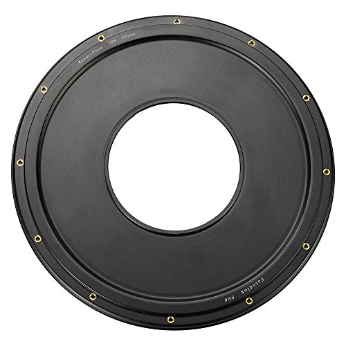 WonderPana XL 82mm-145mm Step-Up Ring Only, Anodized Black Metal Aluminum Step Up Ring for 82mm Lens Threads to 186mm WonderPana XL Round Filters ()