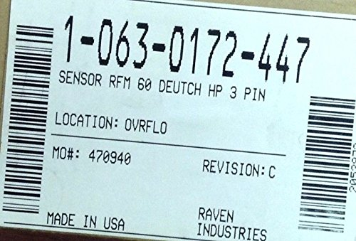 Raven, 063-0172-447, SENSOR RFM 60 DEUTCH HP 3 PIN from Raven