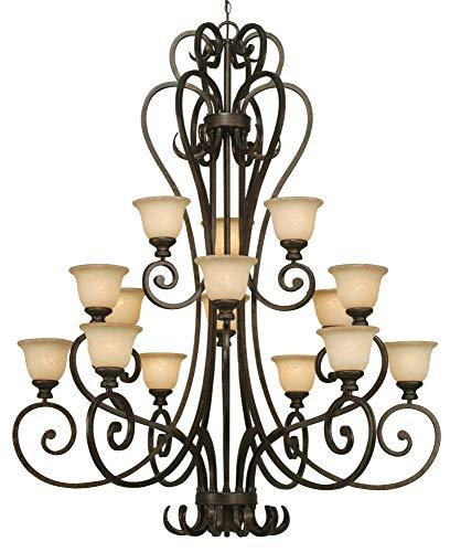 Golden Lighting 8063-15L Heartwood 15 Light Chandelier, Burnt Sienna ()