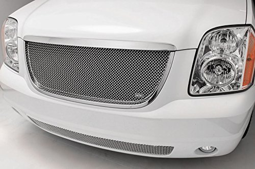 SW Series Polished Stainless Steel Upper 1pc Woven Mesh Grill Grille Insert for GMC Yukon (Gmc Yukon Grillcraft Grille)
