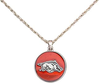 product image for SAS Arkansas Razorbacks Translucent Enamel Circle Charm Necklace Jewelry