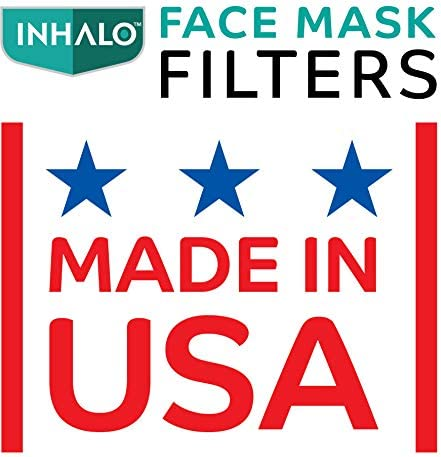 "Inhalo""Peel & Stick"" Face Mask Filters, Added Protection for Your Face Masks Size, Adult, 10 Count"