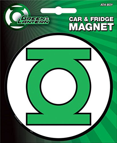 Ata-Boy DC Comics Die-Cut Green Lantern Logo Magnet for Cars, Refrigerators and Lockers ()