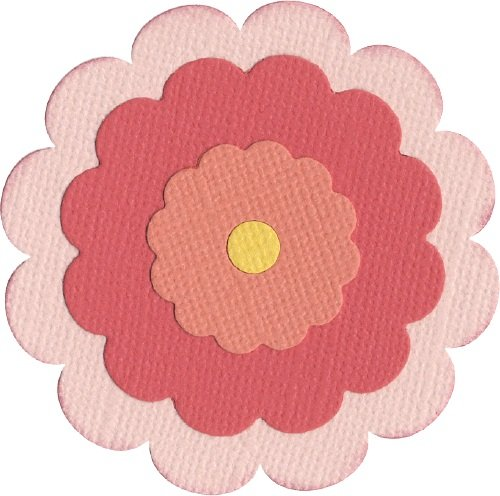 We R Memory Keepers 4-Inch by 4-Inch Die, Flower, Scalloped (4 Die X Revolution Quickutz 4)