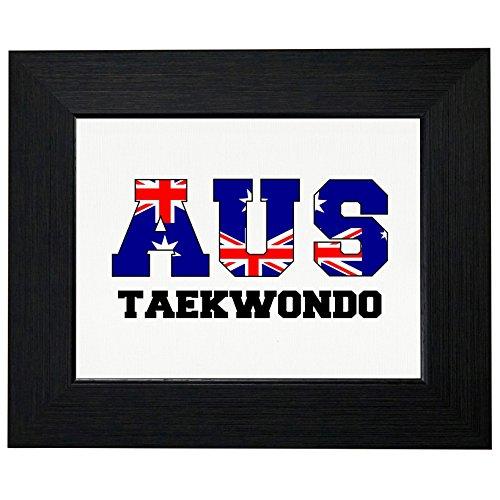 - Australia Taekwondo - Olympic Games - Rio - Flag Framed Print Poster Wall or Desk Mount Options