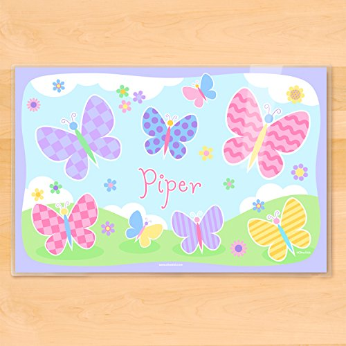 Olive Kids Personalized Butterfly Garden Placemat - Personalized Butterfly Garden