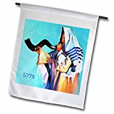 Cheap 3dRose Jewish Themes – Image of Shofar Being Blown For New Year 5779-18 x 27 inch Garden Flag (fl_281553_2)