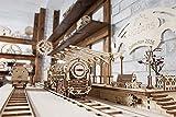 Ugears Bundle Locomotive and Railway Platform Mechanical 3D Puzzle Eco DIY Brainteaser Teens Toys