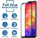 COMORO Redmi Note 7/Note 7 Pro Anti Scratch 9H Hardness Cover Friendly Anti Shatter Proof Tempered Glass - Pack Of 1