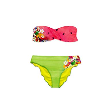 d141033ea Amazon.com  Gova Swimwear Fruits Watermelon Bandeau Bikini Set (Medium)   Clothing