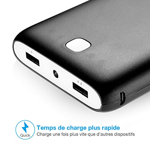 Poweradd Pilot X7 20000mAh double USB returns lightweight Charger External Battery electricity Bank with the help of made in LED Flashlight for iPhone iPad Samsung and far more Black sign Accessories