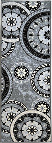 Collection Contemporary Rectangular Circular Rubber Backed