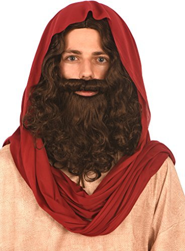 Kangaroo Costumes - Jesus Wig and Beard - http://coolthings.us