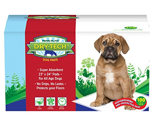 Penn-Plax (DTP6) Dry-Tech Pet Dog Training Pads with Natural Attractant 100 Piece Pack (Dog Training Spray)