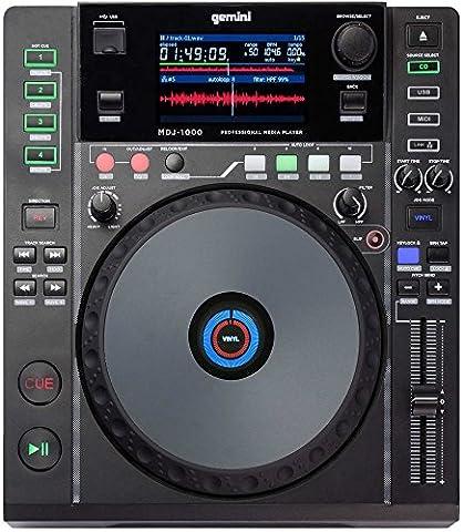Gemini MDJ Series MDJ-1000 Professional Audio DJ Media Player with 4.3-Inch Full Color Display Screen, 8