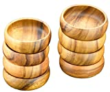 "Round Calabash Salad/Dip/Nut Bowl, 6"" x 2'', Set of 8"