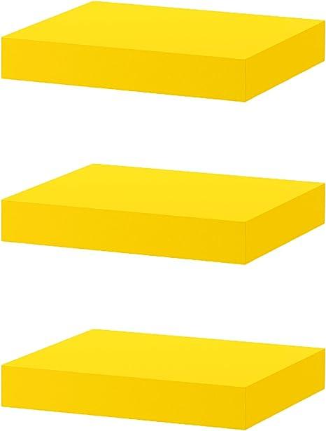 IKEA flotante estante de pared – falta, amarillo – decoración para el hogar – Pila de 3 estantes: Amazon.es: Hogar