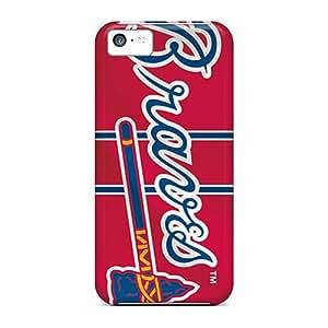 Flexible Tpu Back Case Cover For Iphone 5c - Atlanta Braves