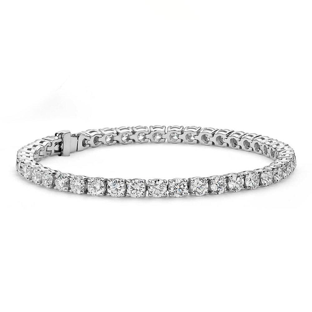 Cate & Chloe Olivia 18k Tennis Bracelet, Womens 18k White Gold Plated Tennis Bracelet w/Cubic Zirconia Crystals, 7.5'' Sparkling Stone Bracelet for Women, CZ Wrap Bracelets by Cate & Chloe