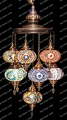 Mosaic Chandelier, Filigree Copper Mosaic,Mosaic Lamp,Turkish Lamp,Moroccan Lantern