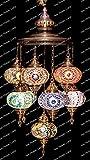 Mosaic Chandelier, Filigree Copper Mosaic,Mosaic Lamp,Turkish Lamp,Moroccan Lantern Review