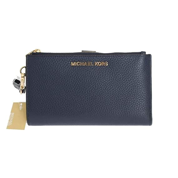 994a58ab9e58 Michael Kors Jet Set Travel double Zip Wristlet (Navy)  Amazon.co.uk   Clothing