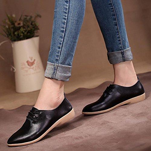Femmes Noir de Longra Cuir Flip Sandales Plates Pointu Flops Bout Lacer Chaussures Croix Confortables Plate d'été Sangle Shoes Chaussures Plates Loisirs Sandales Femme Femmes Sandales pour 4ddxw