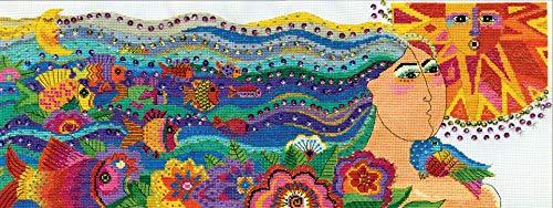 Design Works Counted Cross Stitch Kit - Laurel Burch Mikayla ()