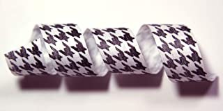 "product image for 100% Biodegradable Natural Ribbon | Prints & Stripes | Ribbon for Crafts | Cotton Curling Ribbon | Holiday Ribbon | Wrapping Ribbon | Eco-Friendly Ribbon (Houndstooth, 1/2"" x 100 Yards)"