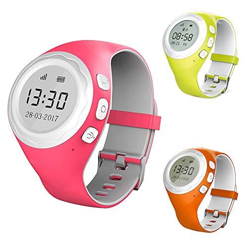 ShenYo Kid Smartwatch G2 - Reloj de posición Inteligente para niños con GPS antipérdida, Bluetooth, para teléfono con gsm 2G Bluetooth 4.0 32M RAM 170H ...