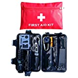 Elite Four Emergency Survival Kit 10-in-1 with First Aid Kit, Multi-Tools for Camping/Climbing/Hiking/Traveling