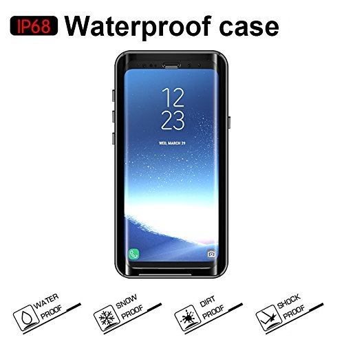 Samsung Galaxy S9 Plus Waterproof Case, Mangix Underwater Cover Full Body Protective Shockproof Snowproof Dirtproof IP68 Certified Waterproof Case for Samsung Galaxy S9 Plus
